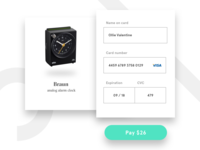 DailyUI, 002 - Credit Card Checkout