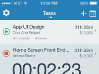 Timer app 02 all tasks timer on