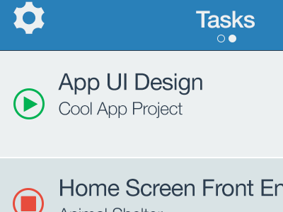 Project Timer App tracking timer mobile ios ui flat project