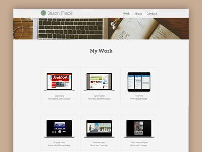 Jason's Portfolio Site portfolio web design ui