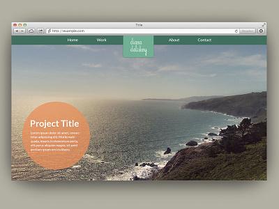 Portfolio Design Part 1 website portfolio ui home navigation photography gallery