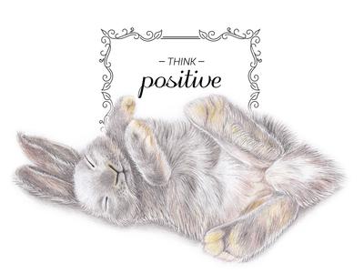 Bunny - think positive