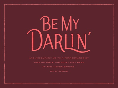 Be My Darlin'