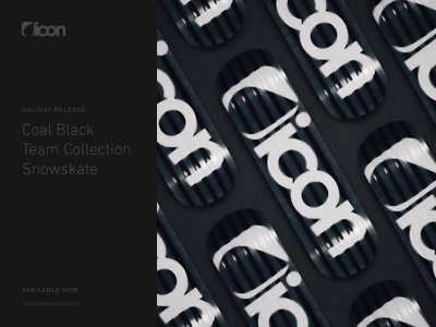 Coal Black Snowskate soft shadows dark black snowboard skateboard din rounded typography photography snowskate