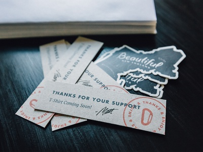 Beautiful Throwback cardstock typography lettering carabiner stamp sticker