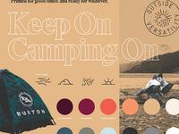 Burton Fall Identity palette identity brand layout duotone bitmap typography type