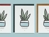 Holiday Cards Available texture bitmap organic plant snake plant letterpressed typography letterpress