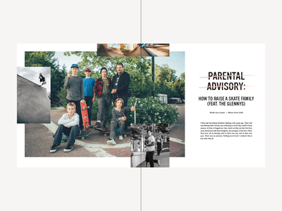 Sniff This Vol. 2 - Glenny Family Spreads type editorial skate skateboarding zine magazine photo texture grid bitmap design layout typography photography