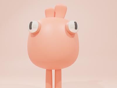 Cute creature design vector uxdesign logo isometric design 3dillustration illustration 3d animation