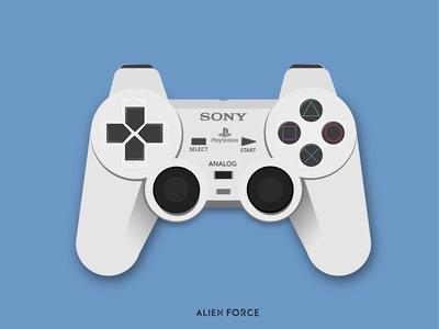 playstation controller illustration.