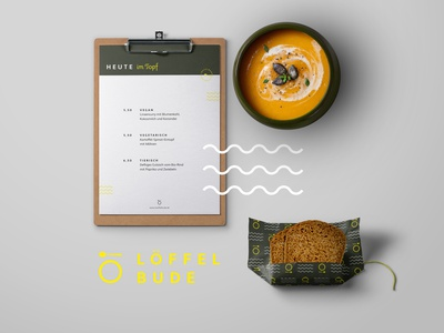 "Corporate Design for the ""Löffelbude"" branding restaurant gastronomy corporate design"