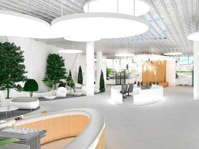 Hospital hall interior design