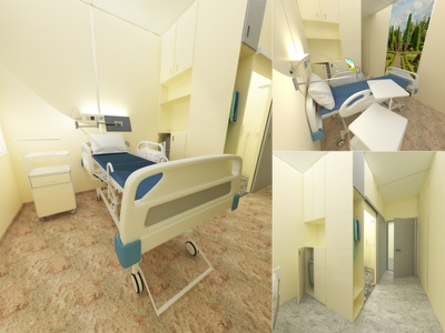Hospital room design patient comfort inclusive design disabled people hospital room interior hospital room design hospital design interior design interior