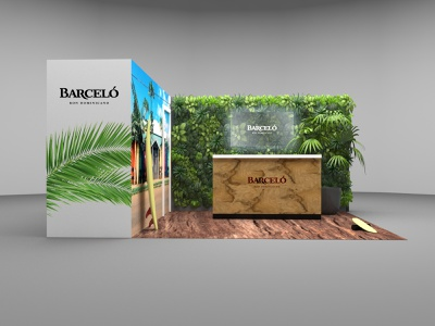 Barcelo stand design standing alcohol brand exhibition exhibition stand design exhibition design exhibition stand design stand brand branding