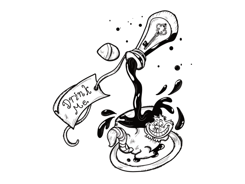 Drink Me Alice In Wonderland By Isabelle Russell On Dribbble