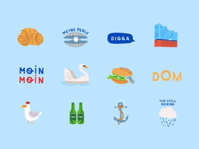 Hamburg Instagram Sticker Set