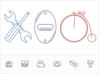 Bike Shop Icons branding bike bike shop icons shop line icons sketch flat