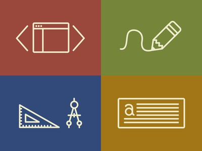 Portfolio Icons icons portfolio website sketch