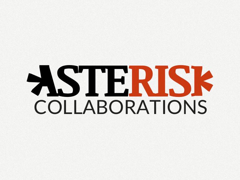 Asterisk Collaborations - Logo Design sketch logo design