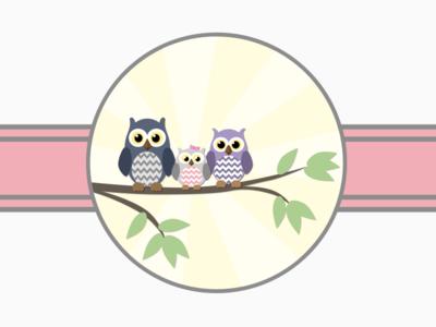 Baby Shower Invite Illustration owl illustration sketch baby shower print