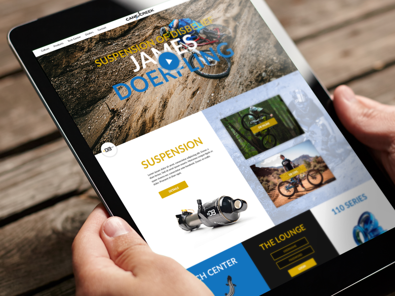 Cane Creek Cycling Components Website Redesign Concept Preview preview wip redesign mtb website
