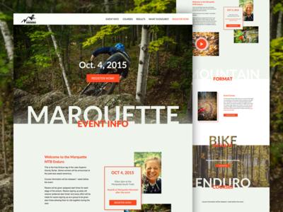 Marquette Mountain Bike Enduro - Event Website Full event ui exploded grid grid design mtb website