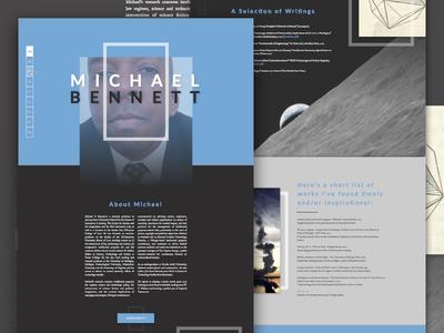 Website Redesign Preview: Michael Bennett