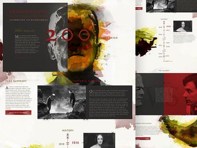 Frankenstein Bicentennial movie book website mock monster texture type prometheus modern frankenstein mocktober