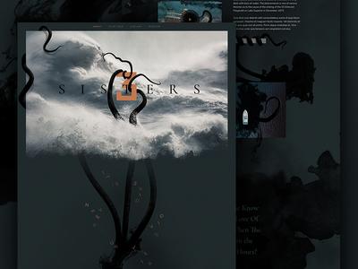 Three Sisters sea monster sea lake superior lake texture dark website illustration mock ocean monster mocktober