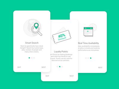 Onboarding walkthrough screens  onboarding app icons design card walkthrough