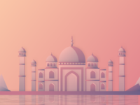 Taj Mahal Illustration