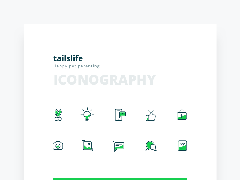 Tailslife Iconography iconography ios line set icon app tailslife