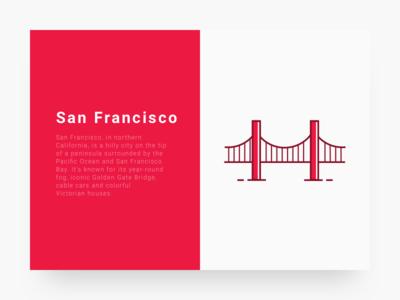 City 2 : San Francisco cityillustrationseries ui sf icon line illustration city san francisco