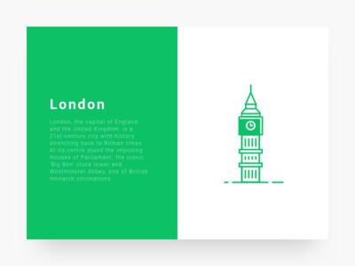 City illustration 3 : London  cityillustrationseries ui green icon line illustration city london