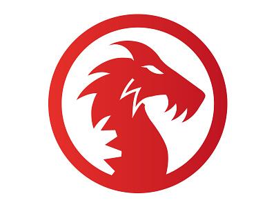 Unused Dragon Concept logo dragon