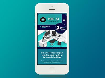 New Port 57 Website mobile coworking website