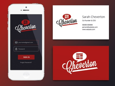 Playing around with a little brand refresh card business mockup branding