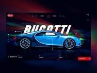 BUGATTI web ui/ux design