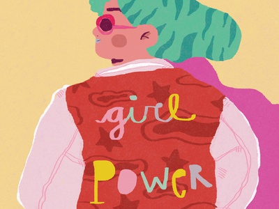 Girl Power icon design illustration