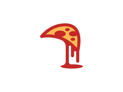 Tazty pizza red drop food illustration illustrator design clean vector minimal branding logo pizza