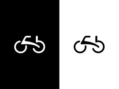 Bicycle Logo bicycle logo bicycle black  white blackandwhite bw design clean vector branding minimal logo