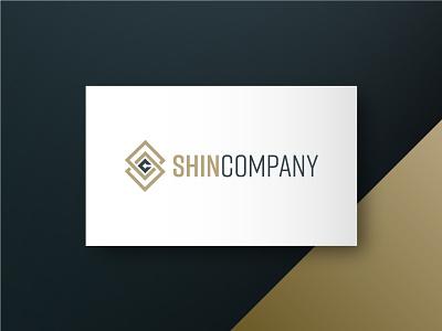 Shin Company modern logo modern initials logo initials abstract illustration design clean minimal branding logo