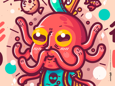 I want to be free 影の谷に 🐙 crazy character beauty venezuela cool art creative illustration design pulp color pulpo
