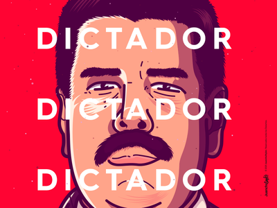The Dictator abstract crazy character venezuela cool art creative color illustration design