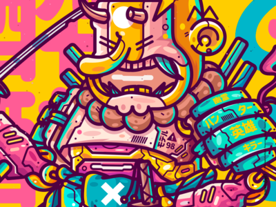 Simpson Samurai samurai venezuela cool color creative illustration design