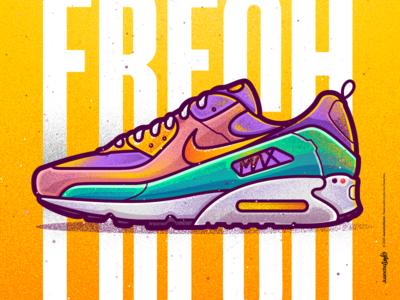 Nike | MoodStyler - Bel-Air. character venezuela art cool color creative illustration design