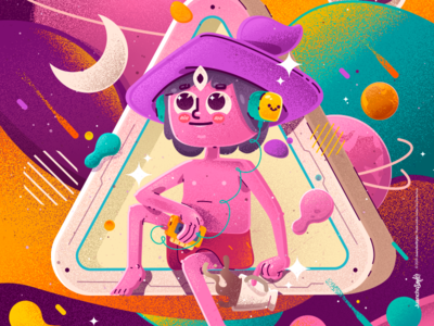 The Midnight Gospel abstract inspired venezuela art cool color creative illustration design