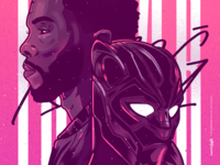 Black Panther - King T'challa blackpanther wakanda beauty character venezuela art cool color creative illustration design