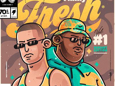 Funky Fresh ® 🌴 funkyfreco akapellah lilsupa character venezuela art cool color creative illustration design