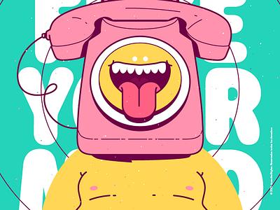 Free your Mind 🧠 crazy beauty character venezuela art cool color creative illustration design